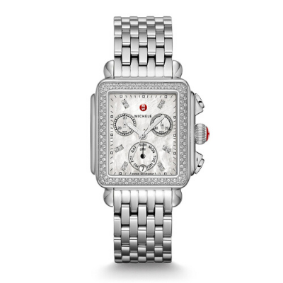 Michele Deco Diamond Bezel Watch