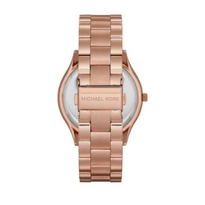 Michael Kors Unisex Slim Runway Rose Gold-Tone Watch MK3197