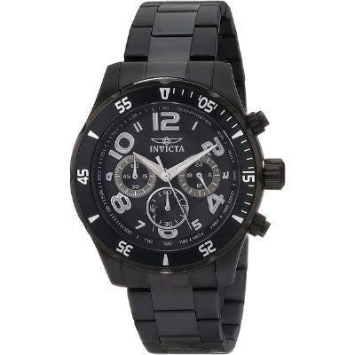 Invicta Men's Pro Diver Black Stainless-Steel Quartz Watch 12915