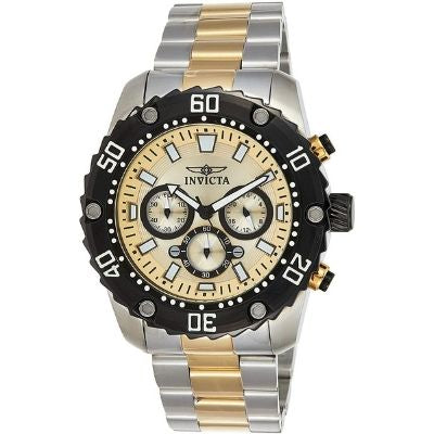 Invicta Men's Pro Diver Quartz Watch with Two-Tone-Stainless-Steel Strap 22519