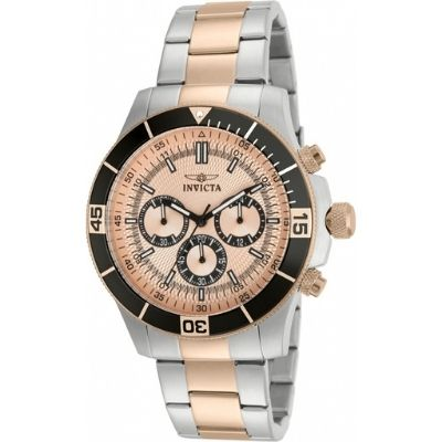Invicta Men's Specialty Chronograph Rose Dial Watch 12842