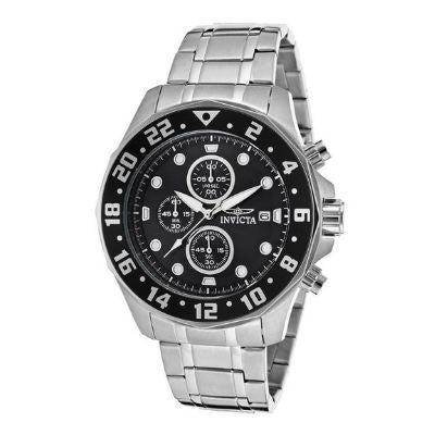 Invicta Men's Specialty Chrono Stainless Steel Black Dial Watch 15938