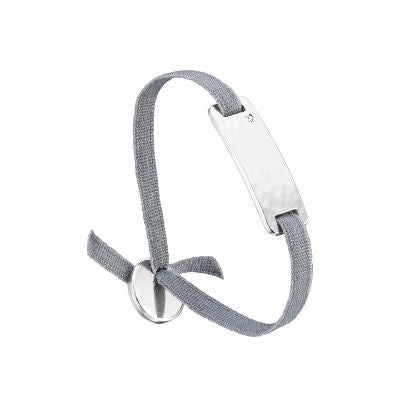 Les Interchangeables Engraveable Palladium Plaque Bar Bracelet