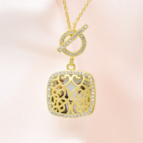 Amelia Toggle Locket Necklace