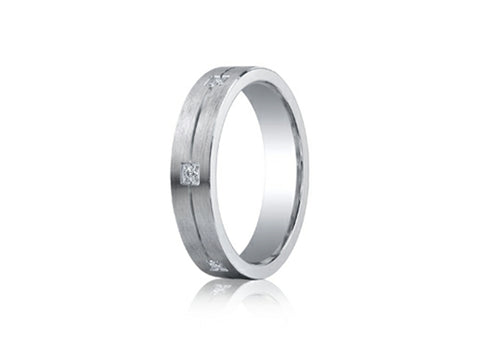 Benchmark Argentium 6-stone Diamond Men's Band