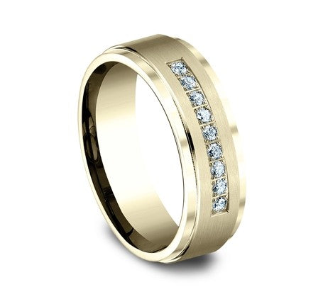 Benchmark 14K Diamond Men's Band