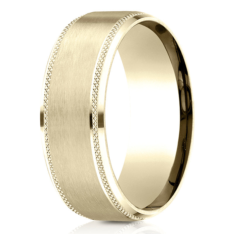 Benchmark 8mm Knurled Men's Band
