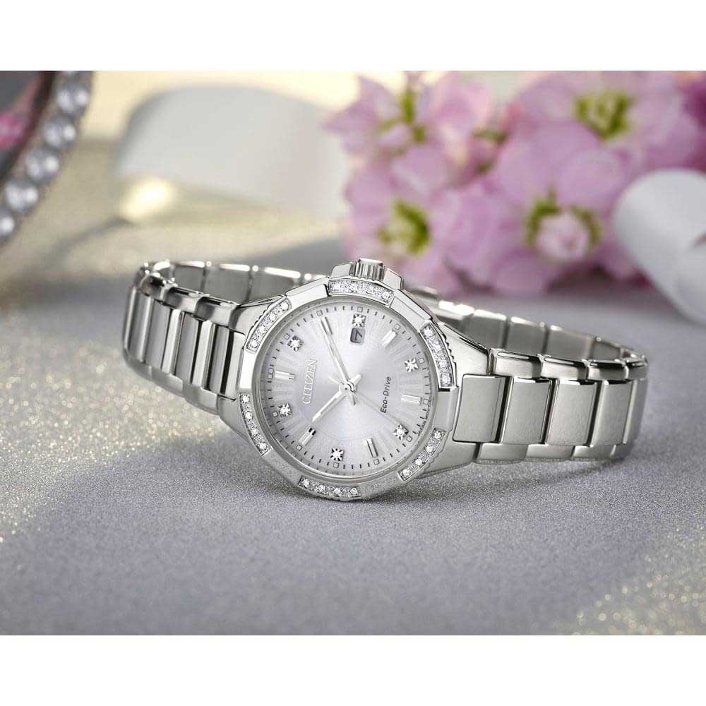 Ladies Citizen Riva Diamond Set Eco-Drive Watch