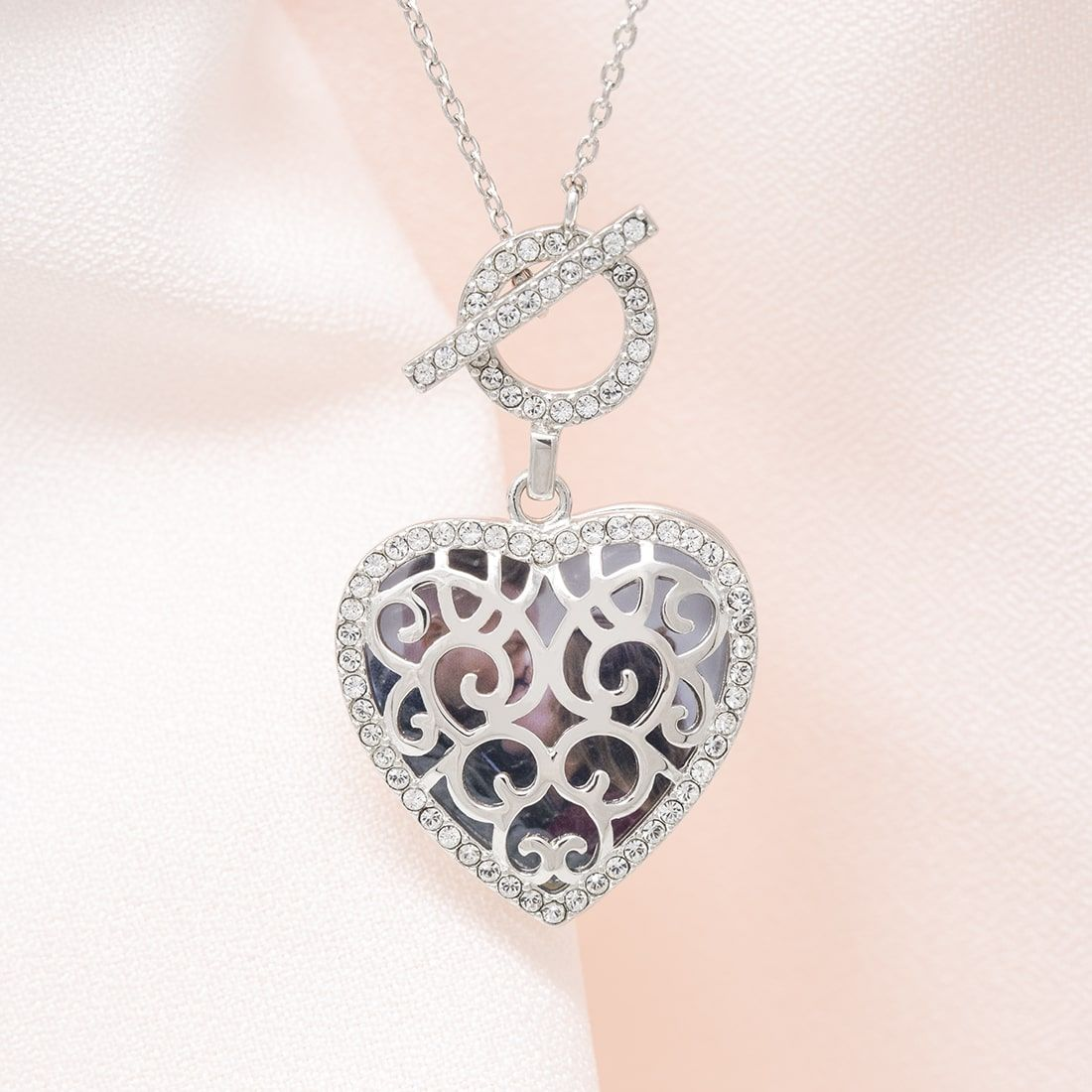 Clara Toggle Locket Necklace