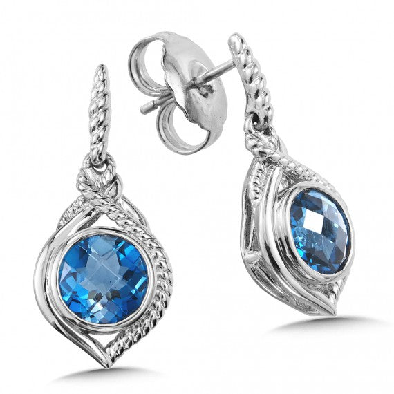 Color SG - London Blue Topaz Post Earrings