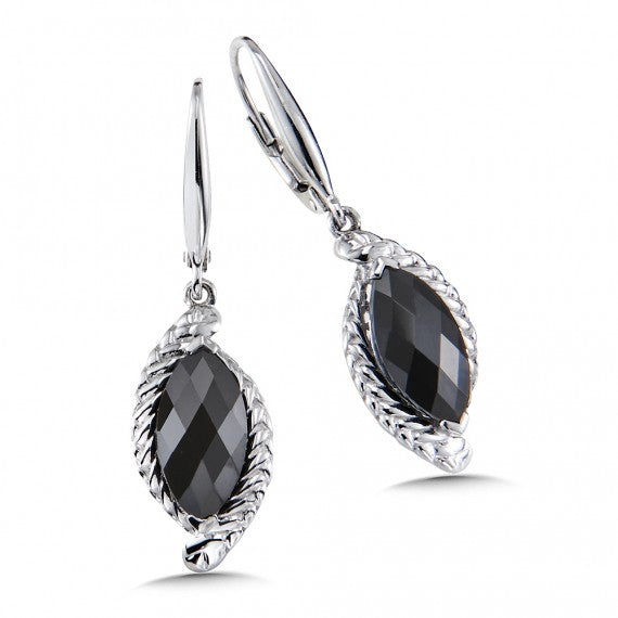 Color SG - Onyx Leverback Earrings