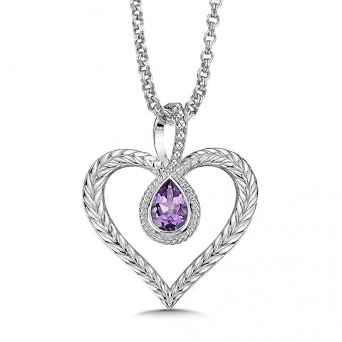 Color SG - Purple Heart Pendant