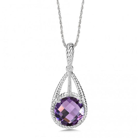 Color SG - Purple Amethyst Pendant