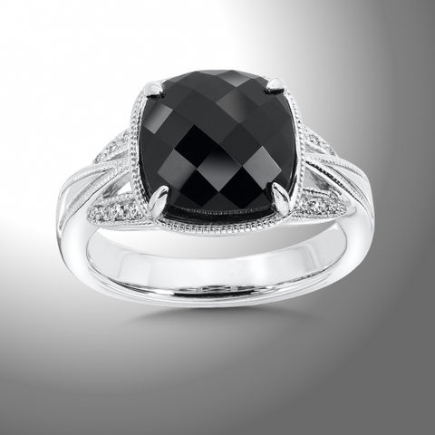 Color SG - Onyx White Diamond Ring