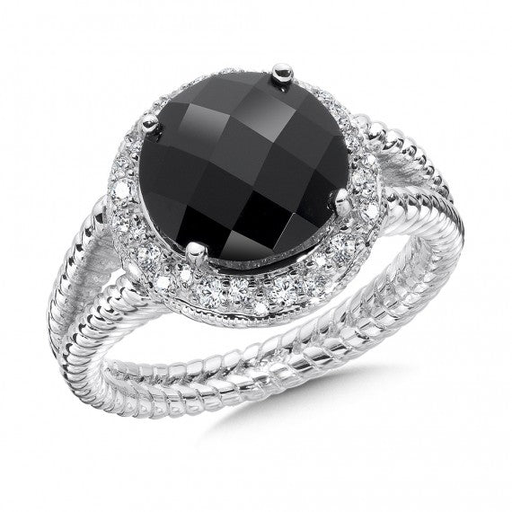 Color SG - Black Onyx & Diamond Ring