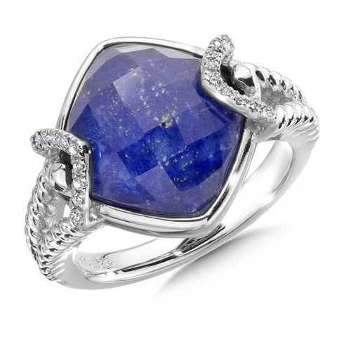 Color SG - Lapis Fusion & Diamond Ring