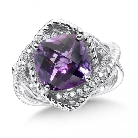 Color SG - Amethyst & Diamond ring