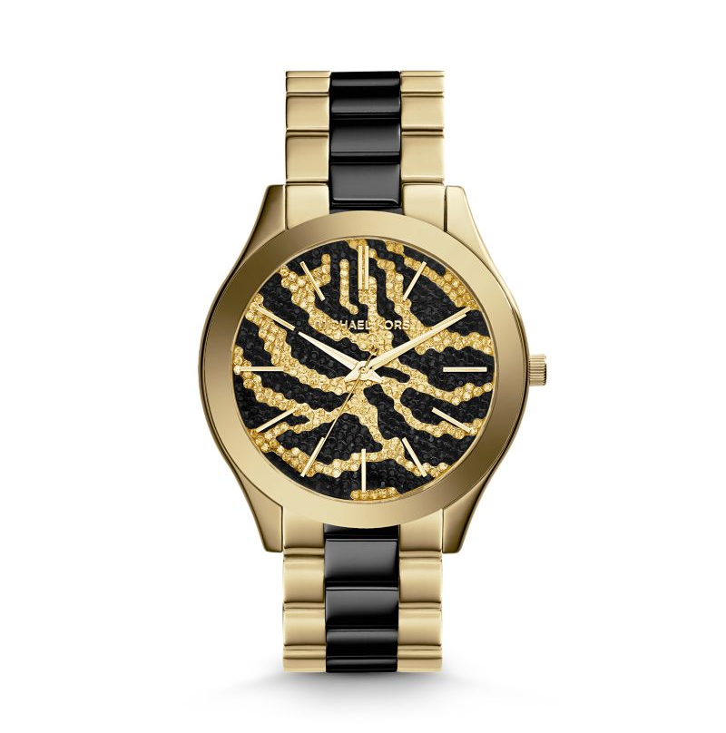 Michael Kors Gold-Tone Zebra Dial Women's Watch