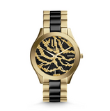 Michael Kors Gold-Tone Zebra Dial Women's Watch MK3315