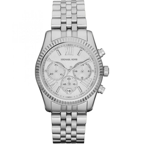 Michael Kors Women's Silver-Tone Lexington Watch