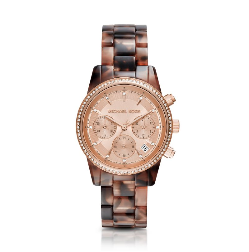 Michael Kors Tortoise Ritz Women's Watch