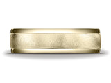 Benchmark 6mm Round Edge Carved Men's Band
