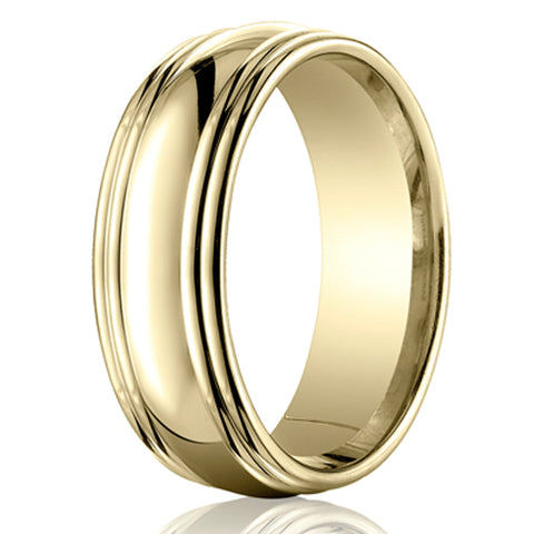 Benchmark 7.5mm Double Round Edge Men's Band
