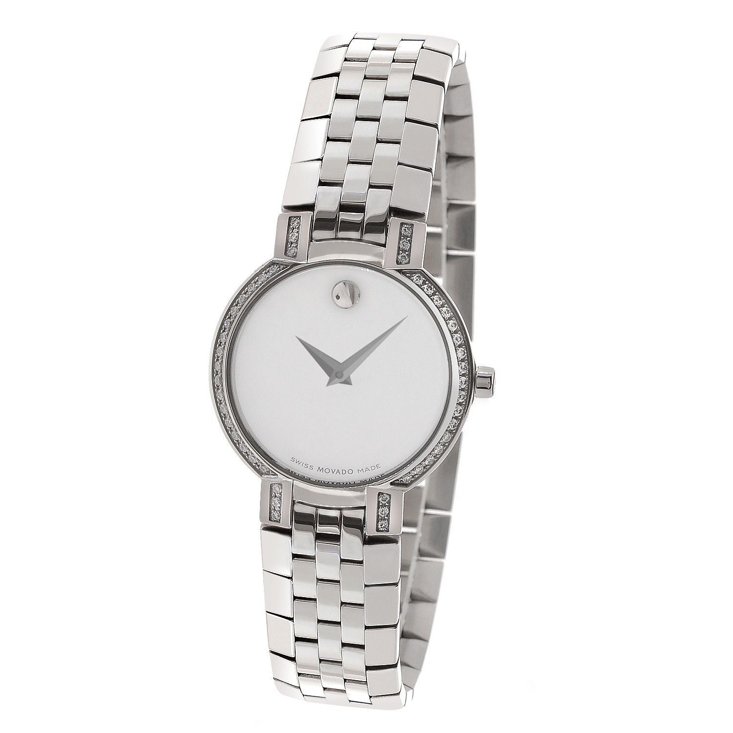 Movado Diamond Bezel Mother of Pearl Watch