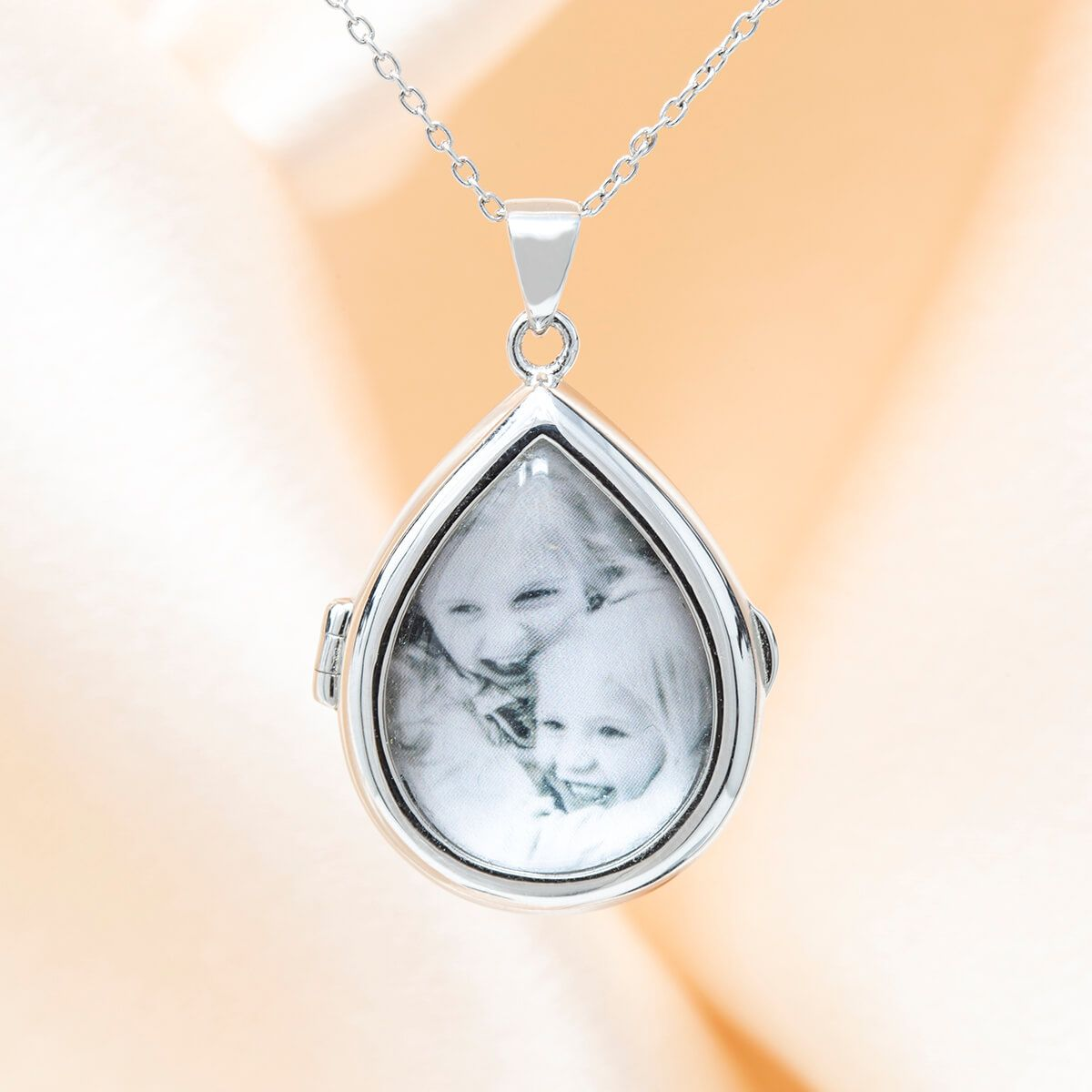Sky Glass Locket Necklace