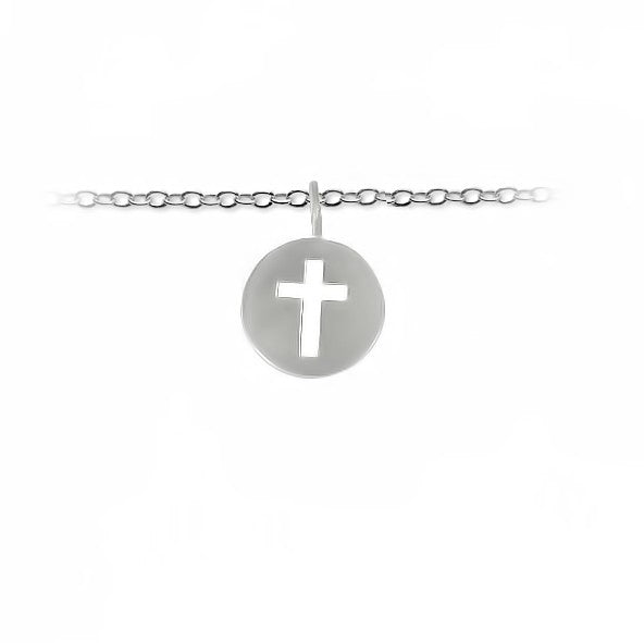 Slate & Tell Medium Cutout Cross Pendant