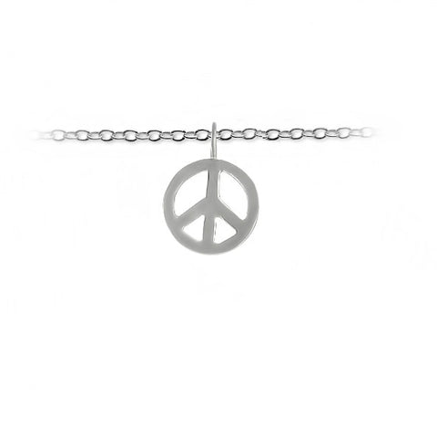 Slate & Tell - Medium Peace Sign Pendant
