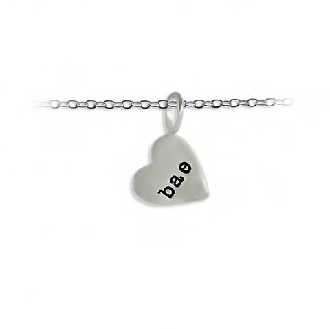 Slate + Tell - Personalized Small Heart Pendant