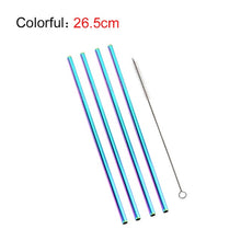 Load image into Gallery viewer, 4 x FREE Colorful Reusable Stainless Steel Straws with Cleaner Brush