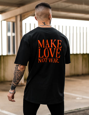 Camiseta negra Make Love