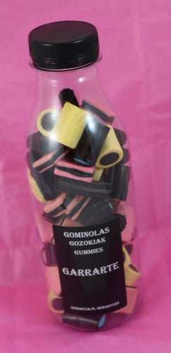 Botella de gominolas