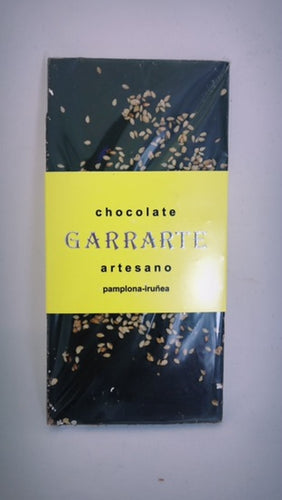 Tableta de chocolate 70% cacao con sésamo