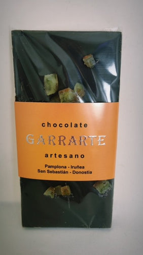 Tableta de chocolate 80% cacao con naranja