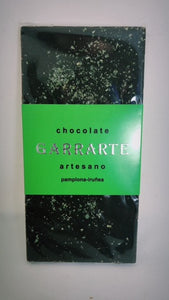 Tableta de chocolate 80% cacao con menta