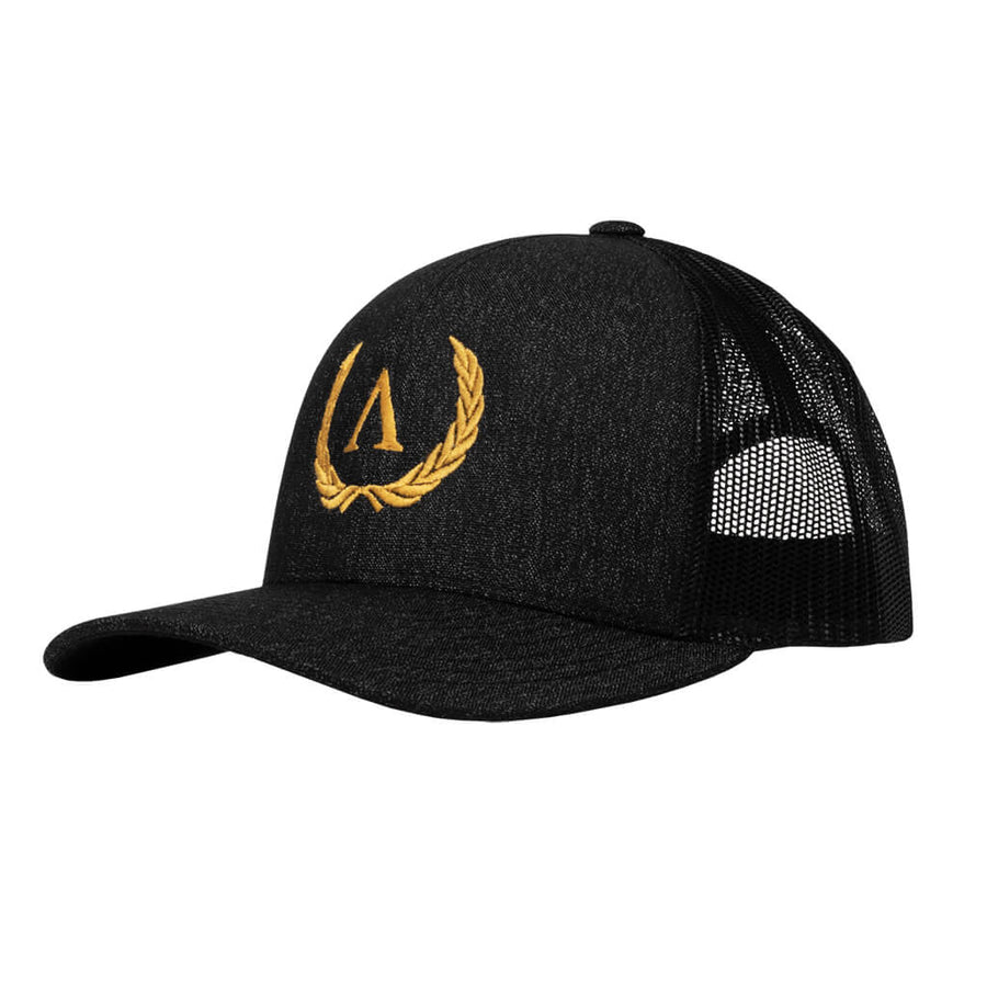 Arete Snapback - Black Heather/Black