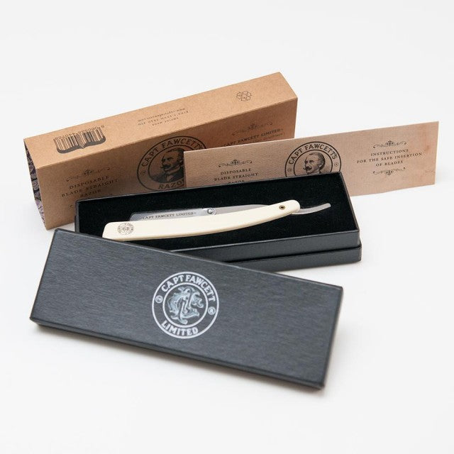 DISPOSABLE BLADE STRAIGHT RAZOR CAPTAIN FAWCET