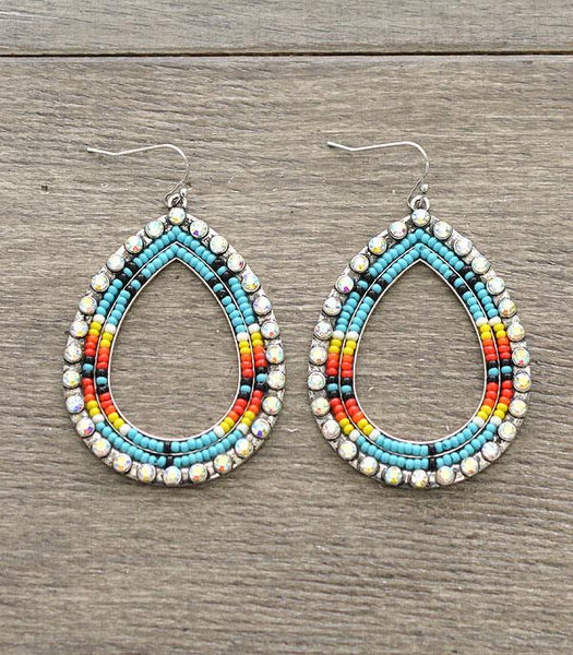 Teardrop Seed Bead earrings