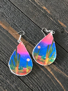 Desert Sunset Teardrop Earrings