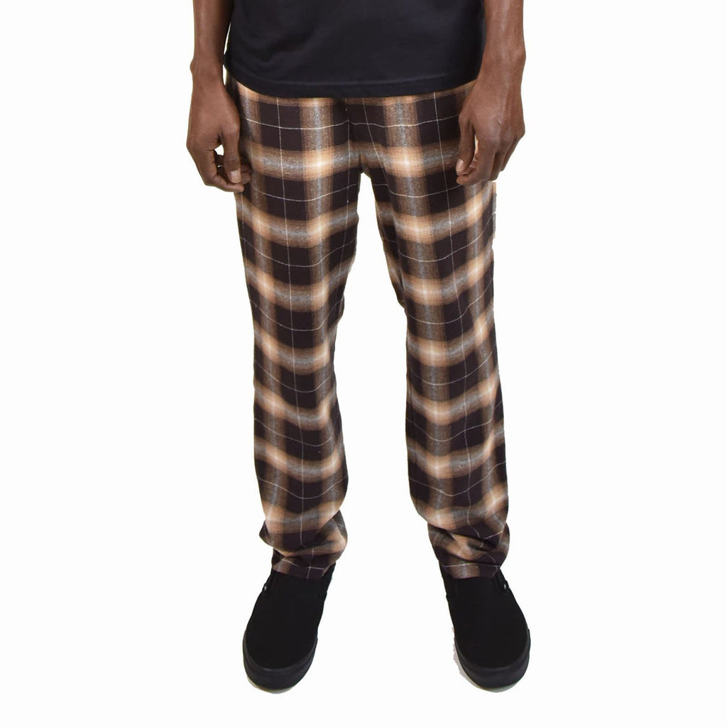 Brown Ombre Plaid Lined Pant - SKIDZ