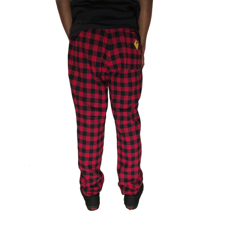 Red Plaid Lined Pant - SKIDZ NYC