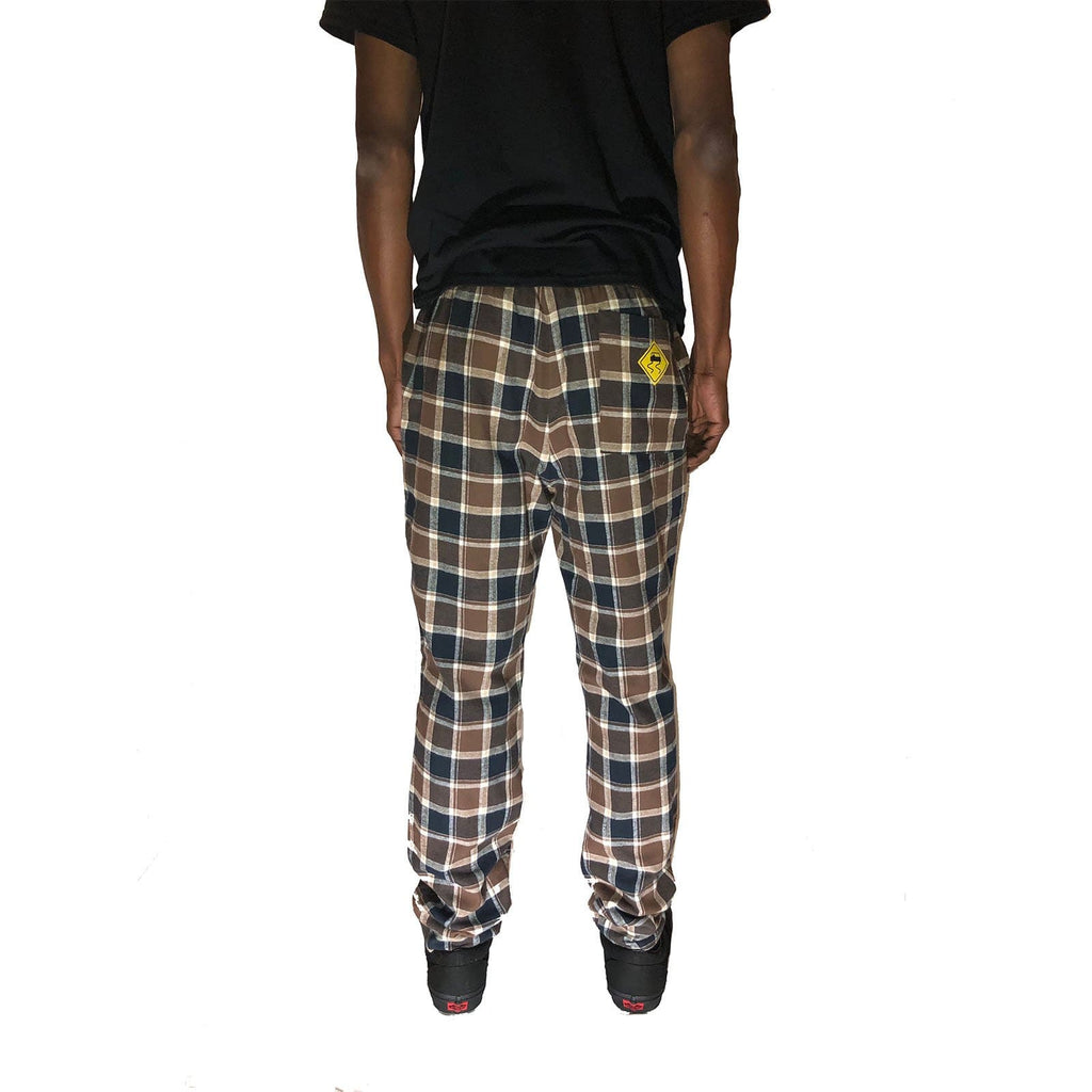 Brown Plaid Lined Pant - SKIDZ