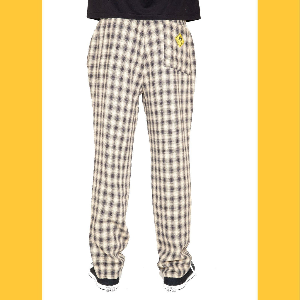 Black & White Plaid Flannel Lined Pant - SKIDZ