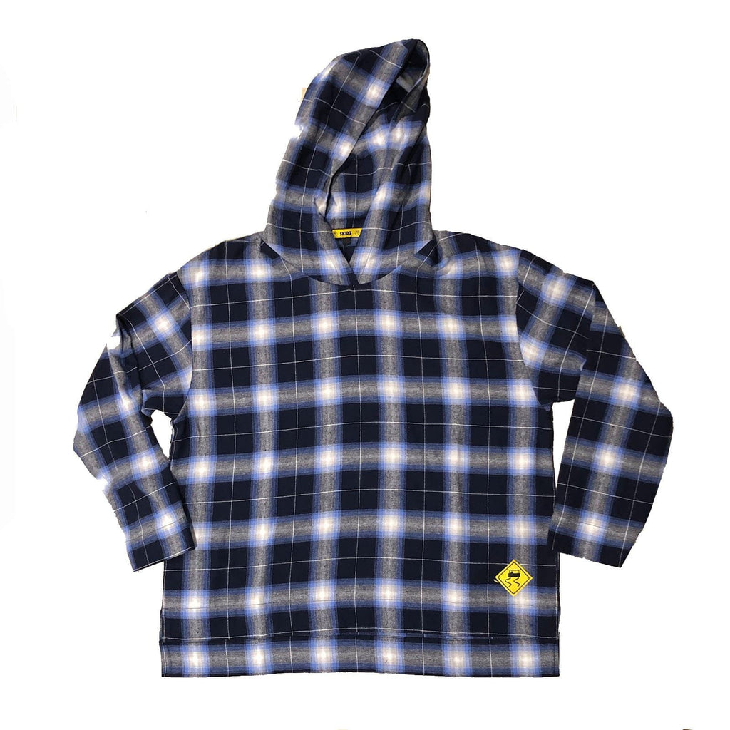 30% OFF SALE! Navy Ombre Plaid - SKIDZ