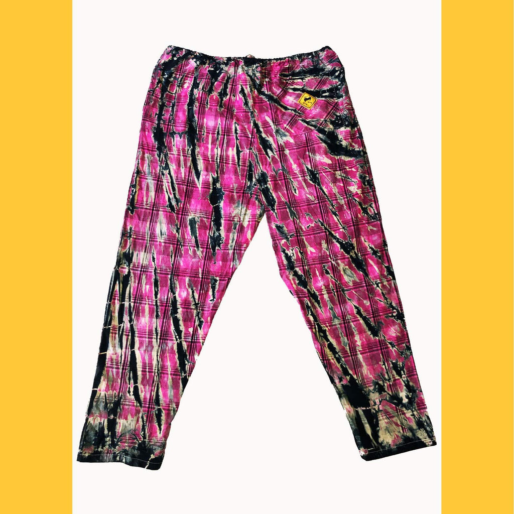Hot Pink Electric Tie-Dye Plaid - SKIDZ