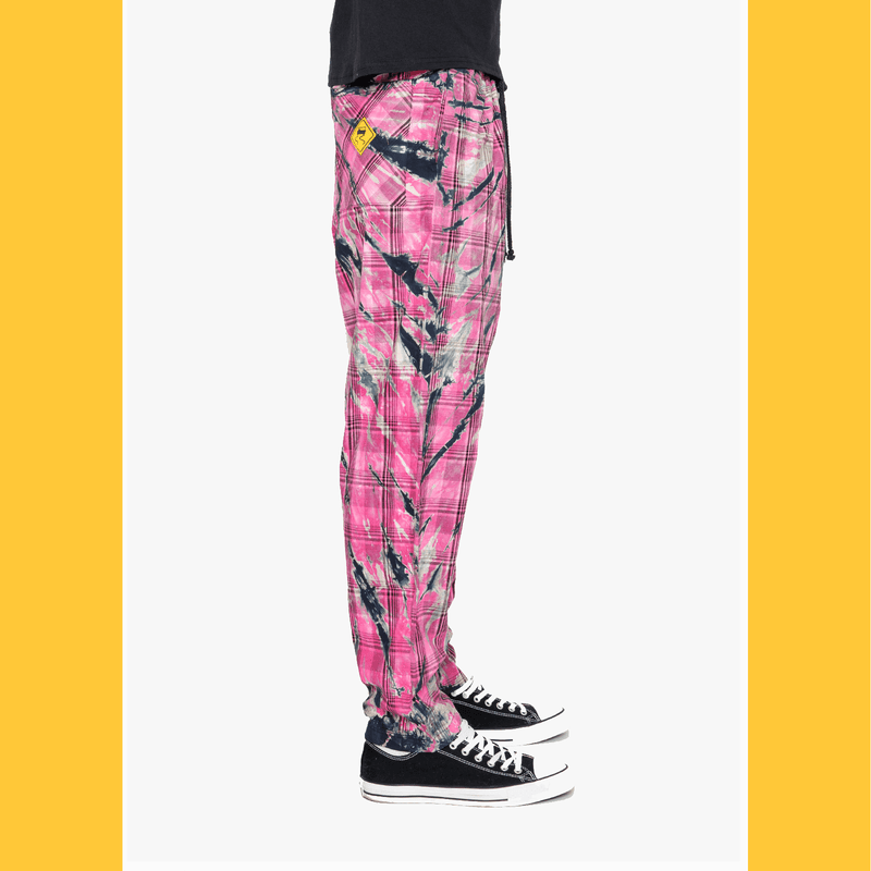 Hot Pink Electric Tie-Dye Plaid (RESTOCKED) - SKIDZ