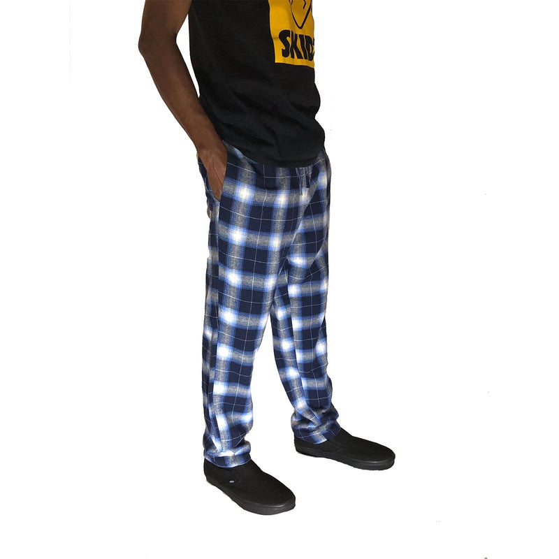 Navy Ombre Plaid Lined Pant - SKIDZ